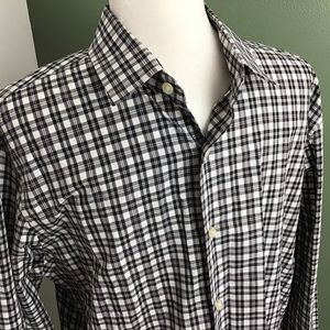 Express | Men's Modern Fit Black & White Shirt